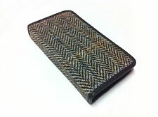 NEW GRIFFIN Harris TWEED All Wool LEATHER Brown iPhone 5 5S Phone WALLET Case