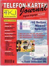 TK Telefonkarten Zeitung TKJ Telefonkarten Journal 1996 Nr. 11