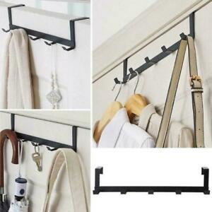 5 Hook Over The Door Hanger Hooks Hanging Rack Clothes Bags Holders J4B1