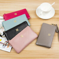 Womens Real Leather Handbag Ladies Clutch Bag Wristlet Designer Inspired Pouch