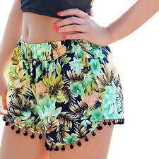 Sexy Women Hot Pants Summer Casual Print Loose High Waist Beach Shorts M US