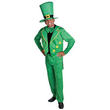 Adult Leprechaun Costume L/Xl St Patrick Day Leprachaun 4pc Hat Jacket Tie Pants