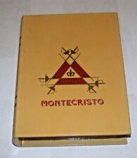 Monte Cristo Plastic Cigar Box Yellow Book Style 21x15.5x4cm 10.9oz Collectors