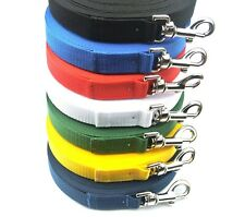 3FT - 100FT Long Dog Training Lead Strong Tracking Leash Recall Line 7 Colours