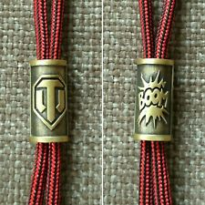 "Collectible Bead Brass ""World of Tanks"" Knife Paracord Lanyard Handmade"