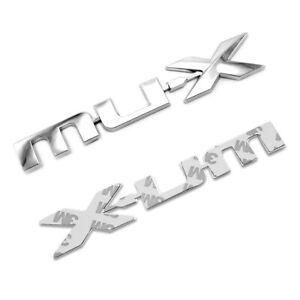 For Isuzu Mu-x Suv 2015 2016 18 Logo Emblem Badge Decal MU-X Trim Chrome