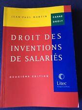 Droit Des Inventions De Salariés Propriété Industrielle - Brevet -