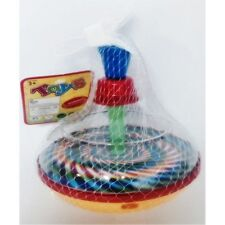 NEW SMALL TRADITIONAL CHILDREN'S  SPINNING TOP BABY SPIN VINTAGE TODDLER KIDS