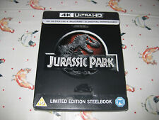 JURASSIC PARK (1993) - Steelbook Edition - 4K Ultra HD + Blu Ray + DL  - MINT