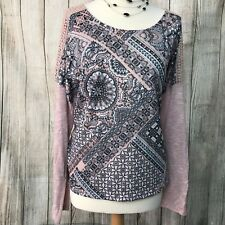 Fabulous Blush Pink M&CO Crochet Sleeve Sweater Jumper Top Size 20