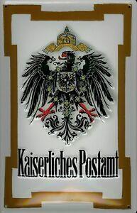 Kaiserliches Postamt Blechschild Schild 3D geprägt gewölbt Tin Sign 20 x 30 cm