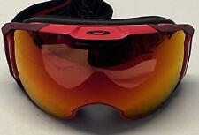 Oakley Airbrake XL Ski/Snowboard Goggles Red w/Prizm Torch Lens Very Nice!