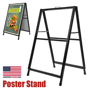Size : 5030140cm ZKKWLL Display Stand Advertising Display Stand Windproof Poster Propaganda Stand Display Stand Double-Sided Sales Display Advertising Sign Stand