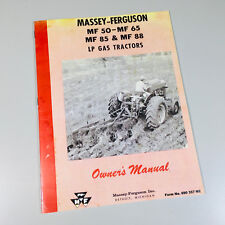 MASSEY FERGUSON 50 65 85 88 GAS LP TRACTORS OWNERS OPERATORS MANUAL