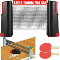 Retractable Portable Net Table Tennis Set: Paddle Bats&Post Ping Pong Kit
