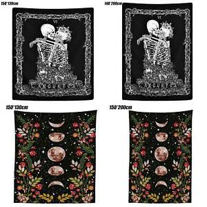 Moon Tapestry Skeleton Colorful Wall Hangings Bohemian Bedspread Home Room Decor