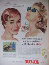 PUBLICITÉ 1956 RIEN NE REMPLACE LA BRILLANTINE ROJA PARFUMÉS - ADVERTISING