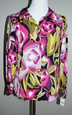 Missoni for Target Womens Top L NWT raspberry floral rose print blouse Fall SS1