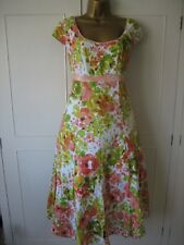 PER UNA DRESS MARKS & SPENCER SIZE 14L SUMMER  COTTON STUNNING