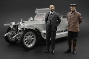 Charles Rolls & Henry Royce  Figure for 1:18 Rolls-Royce Kyosho  !! NO CAR !!