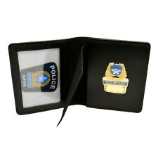 Perfect Fit Montreal SPVM Police Book Style Badge Case Black Leather MUC Quebec