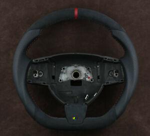OEM JAGUAR Custom Steering Wheel Flat Bottom Thick XF XFR XK XKR X250 X150 06-12