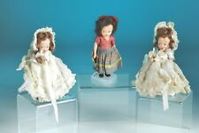 1945 Set of three Mayfair composition dolls 5""