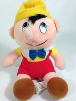 "Vintage Pinocchio Plush Walt Disney Productions Stuffed Doll Toy 8"""
