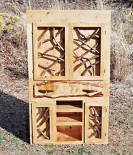 Rustic TV media Entertainment Center Adirondack Doors Log Home Cabin Furniture