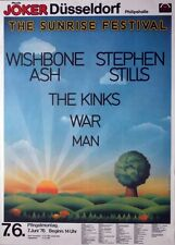 SUNRISE FESTIVAL - 1976 - Konzertplakat - Kinks - War - Man - Wishbone - Stills