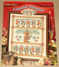 """Colorful """"Colonial Sampler"""" Continental Army / Love & Birds Cross Stitch Pattern"""