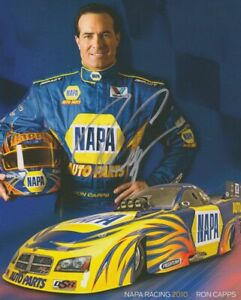 2010 Ron Capps signed Napa Auto Parts Dodge Charger Funny Car postcard