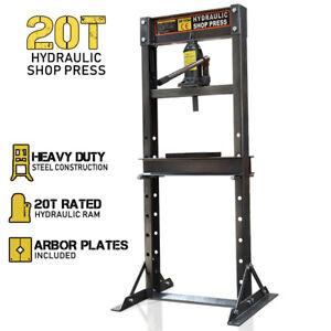 20 Ton Hydraulic Shop Press Workshop Garage Bending Jack Tool Stand Bearing