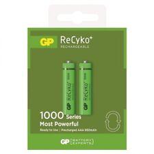 GP ReCyko+ AAA Rechargeable Batteries 1000 Series 1.2V 950mAh NiMH 2/pack