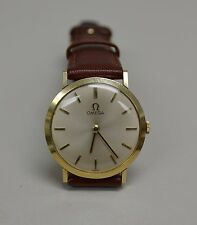 Vintage 14K Gold Omega thin & elegant wristwatch. 30mm case Cal.620,  Serviced.