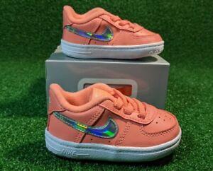 Nike Air Force 1 Crib Booties Baby Atomic Pink Sneakers US 3C CK2201-600