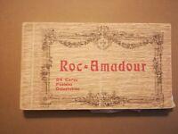 ancienne pochette 24 CPA photos ROC AMADOUR