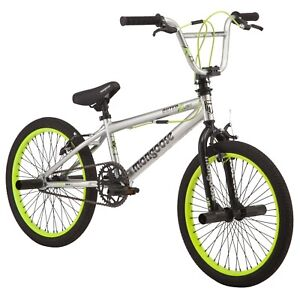 """20"""" Outerlimit BMX Bike Sturdy Frame w/ Pegs, Ages 8-12, Rider Height 4'2""""+"""