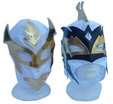 WWE Sin Cara & Kalisto White Wrestling Masks Pair Lucha Dragons