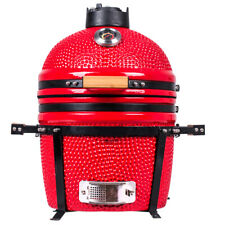"YNNI KAMADO 15.7""  RED Oven BBQ Grill Egg with Stand TQ0015RE"