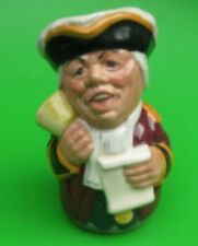 More details for royal doulton doultonville collection toby jug - mr tonsil the town crier  d6713