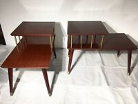 Mid Century Tiered End Tables