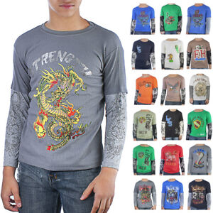 Ed Hardy 100% Cotton Kids and Toddlers Thermal Long Sleeve T-Shirt