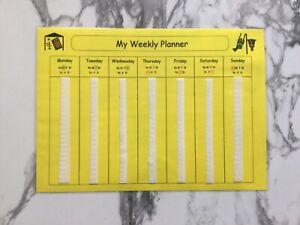 PECS/Boardmaker Week Planner Sheet for Autsm/ASD/ADHD/SEN/Aspergers