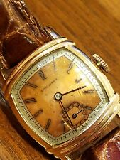 Vintage LONGINES, 10K  G.F. SMALL RARE 2 TONE DIAL 24.5 MM 17J WORKS RUNS SLOW