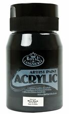 Royal & Langnickel Student Artist 500ml Essentials Acrylic Paint Large Pots Mars Black