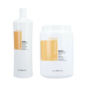 FANOLA NOURISHING Cheveux secs Shampoo 1000ml Masque capillaire régénére 1500ml
