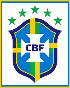Brazil National Soccer Team Logo Wall Art Poster - 8x10 (inches) Color Photo
