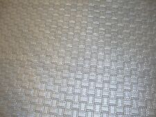 Ships Folded Vinyl Faux Leather Upholstery Fabric Large Metallic Basket Weave