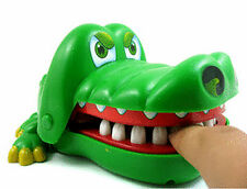 For Kids Xmas Gift Big Crocodile Mouth Dentist Bite Finger Family Game Toy Hot